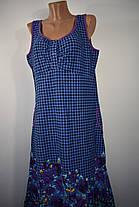 Женский трикотажный сарафан Синие цветы, фото 2