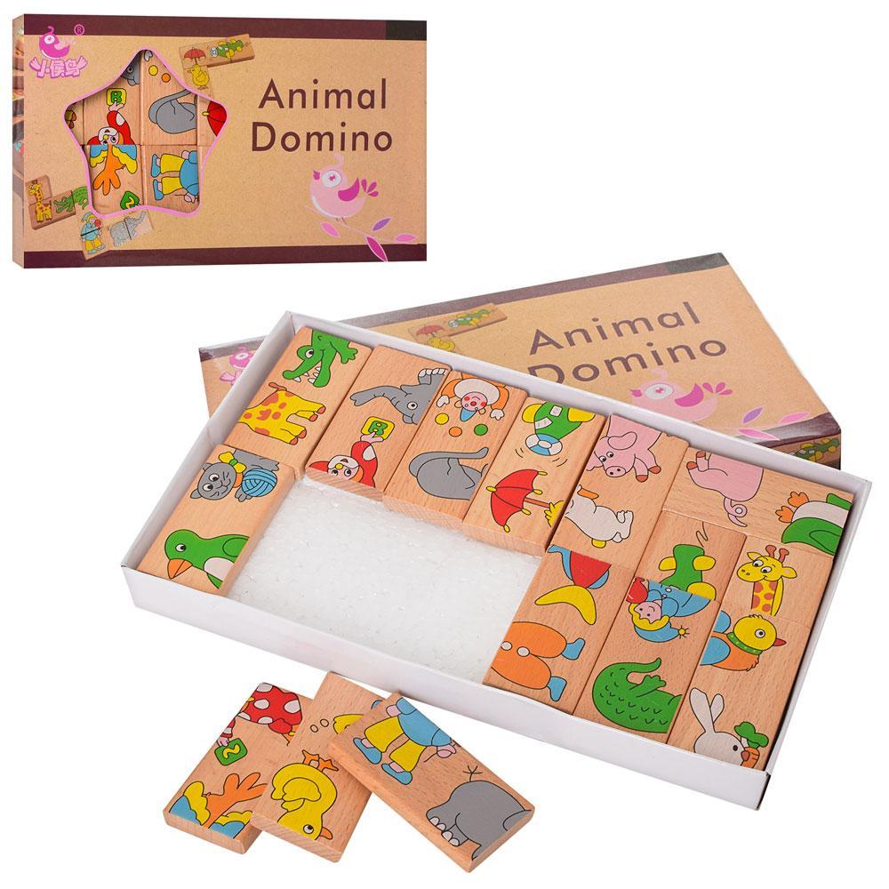 Дерев'яна іграшка Доміно, тварини, MD2146