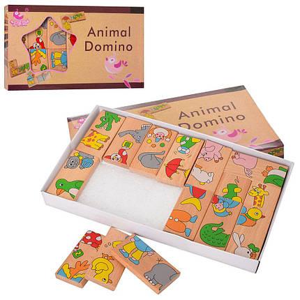 Дерев'яна іграшка Доміно, тварини, MD2146, фото 2