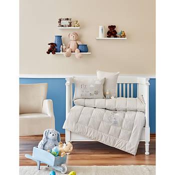 Дитячий набір в ліжечко для немовлят Karaca Home - Cloudy 2018-2 bej (4 предмета) (2000022190251)