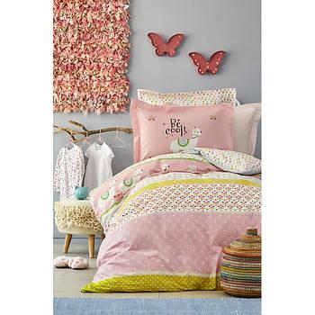 Постельное белье Karaca Home - Arlina pembe 2019-2 розовый ранфорс подростковое (svt-2000022216371)