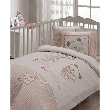 Дитячий набір в ліжечко для немовлят Karaca Home - Stella рожеве (7 предметів) (3125)