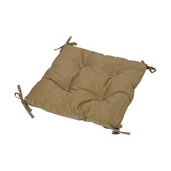 Подушка на стул Lotus 40*40*5 - Optima с завязками горчичный (svt-2000022233330)