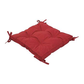 Подушка на стул Lotus 40*40*5 - Optima с завязками красный (svt-2000022234979)