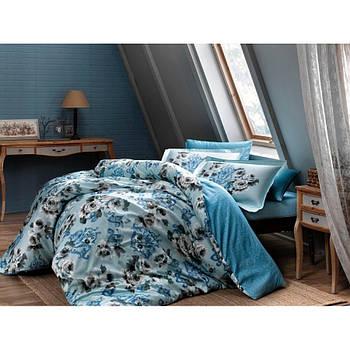 Постільна білизна Тас сатин Digital - Barock V1 mavi блакитний сімейне (svt-2000022236294)