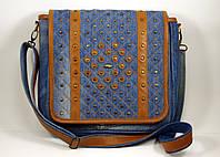 Женская сумка планшет с рыжей кожей, фото 1