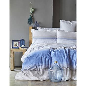 Постельное белье Karaca Home ранфорс - Lapis indigo синий евро (2000022086653)