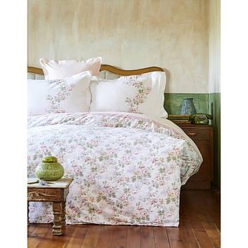 Постельное белье Karaca Home ранфорс - Shale somon лососевый евро (2000022086721)