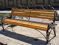 Кованые изделия скамейки