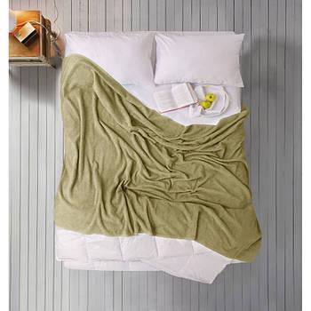 Простирадло Iris Home махрова - olive Green 155*220 (svt-2000022280754)
