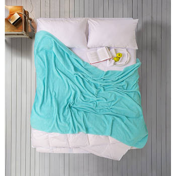 Простирадло Iris Home махрова - Aruba blue 190*220 (svt-2000022280815)