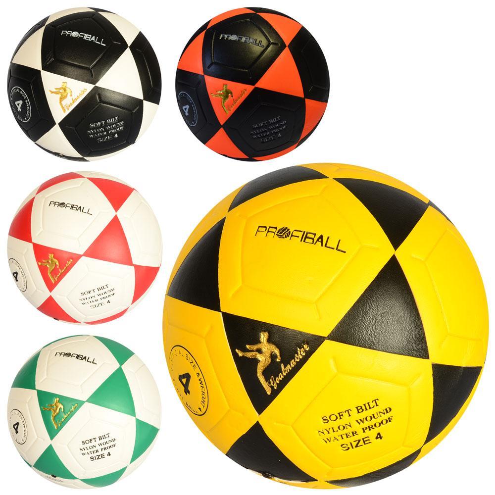 Мяч футбольный Profi, ламинированный, 5 цветов, MS1936