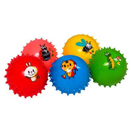 """Мяч-ежик """"Животные"""", 6шт/упак., 5 рисунков, 5 цветов, BT-PB-0149, фото 2"""