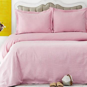 Покривало з наволочками Karaca Home - Cally pembe рожевий 230*240 євро (svt-2000022268189)