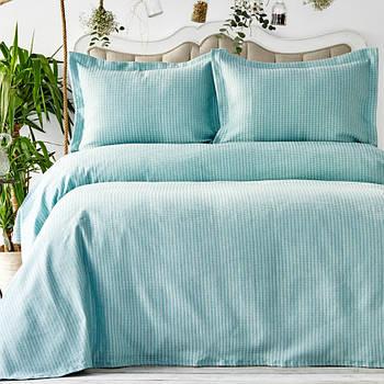 Покривало з наволочками Karaca Home - Cally yesil зелений 230*240 євро (svt-2000022268196)