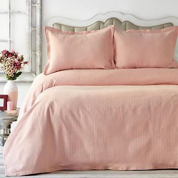 Покривало з наволочками Karaca Home - Cally yavru agzi ніжно-рожевий 230*240 євро (svt-2000022268264)