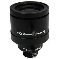 Мануальный объектив для видеонаблюдения: варифокал 4-9 мм, F 1.6