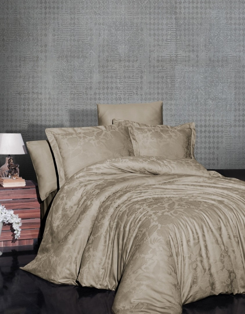 Постельное белье First Choice Satin Jaсquard Cotton евро, 2042_saral_badem