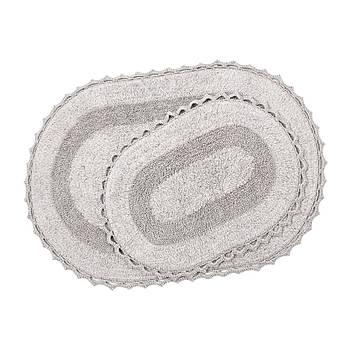 Набор ковриков Irya - Vermont a.gri светло серый 60*90+40*60 (svt-2000022237871)