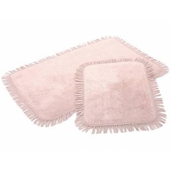 Набор ковриков Irya - Axis pembe розовый 60*90+40*60 (11913985462795)