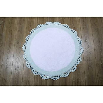 Килимок Irya - Doreen mint-beyaz ментол 90*90 (11913985279181)