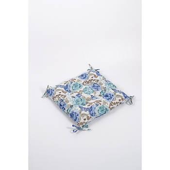 Подушка на стул Lotus 45*45 - Dora с завязками бирюзовый (svt-2000022251815)