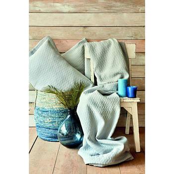 Покривало з наволочками Karaca Home - Charm bold mavi блакитний 250*240 євро (svt-2000022254137)