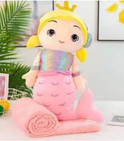 Детская мягкая игрушка с пледом. Модель Y8A4