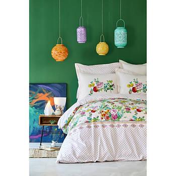 Постельное белье Karaca Home - Irini fusya фуксия пике 160*230 полуторное (svt-2000022238854)