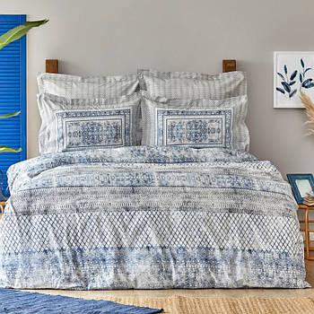 Постельное белье Karaca Home ранфорс - Gianna indigo индиго евро (svt-2000022284776)