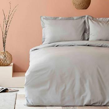 Постельное белье Karaca Home ранфорс - Back To Basic gri серый евро (svt-2000022284875)