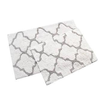 Набір килимків Irya - Bali beyaz білий 50*80+45*60 (2000022195034)