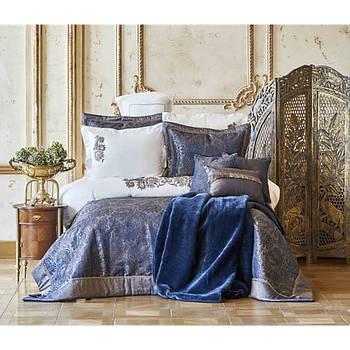 Покривало з наволочками Karaca Home - Venita lacivert синій 270*260 євро (6) (svt-2000022273114)