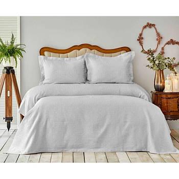 Покривало з наволочками Karaca Home - Liya gri сірий 250*240 євро (svt-2000022286039)