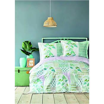 Постельное белье Karaca Home ранфорс - Camelia yesil зеленый евро (svt-2000022253956)