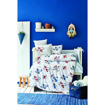 Дитячий набір в ліжечко для немовлят Karaca Home - Airship mavi блакитний (10 предметів) (svt-2000022254021)