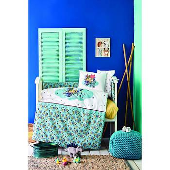 Дитячий набір в ліжечко для немовлят Karaca Home - Bummer indigo індиго (10 предметів) (svt-2000022254045)