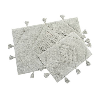 Набор ковриков Irya - Esty gri серый 60*90+40*60 (svt-2000022273718)