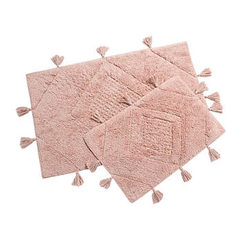 Набор ковриков Irya - Esty gul kurusu розовый 60*90+40*60 (svt-2000022273725)
