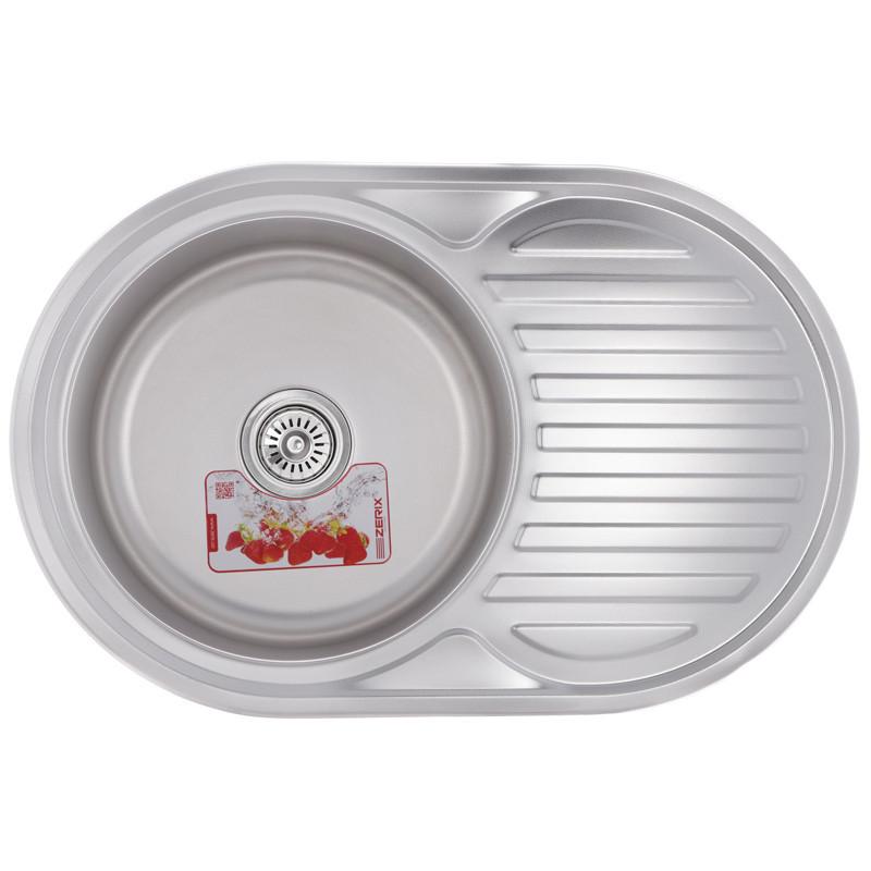 Мийка кухонна нержавійка Z7750-06-180MD dekor ZS0564 Zerix