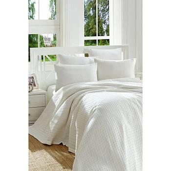 Покривало піку Eponj Home - Burumcuk beyaz білий вафельний 160*235 (svt-2000022288408)