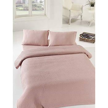 Покривало піку Eponj Home - Burumcuk gulkurusu рожевий вафельний 160*235 (svt-2000022288415)