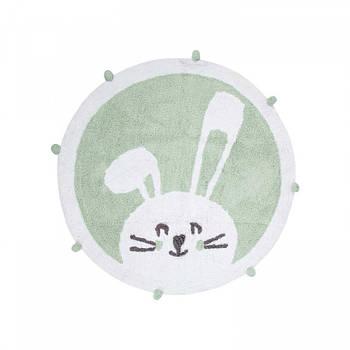 Килимок в дитячу кімнату Irya - Bunny mint ментоловий 110*110 (svt-2000022288453)