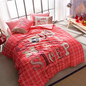 Постельное белье Tac Ranforce Teen - Good Night розовый подростковое (2000022091282)