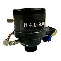 Зум объектив для видеонаблюдения: диапазон 4-9 мм, апертура F 1.6, MTV