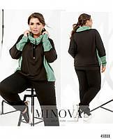 Спортивний костюм №8-317-оливка-чорний оливка-чорний/52-54, фото 1