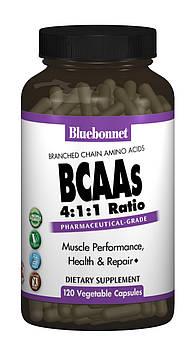 BCAAs (Разветвленные Цепи Аминокислот), Bluebonnet Nutrition, 120 гелевых капсул