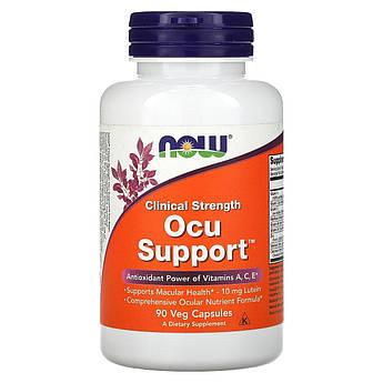 Поддержка Глаз, Clinical Strength Ocu Support, Now Foods, 90 капсул