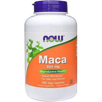 Перуанская Мака, Maca, Now Foods, 500 мг, 250 вегетарианских капсул