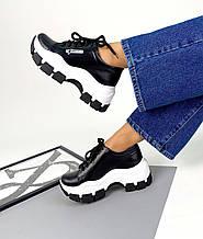 Женские кожаные кроссовки на платформе (разные цвета)